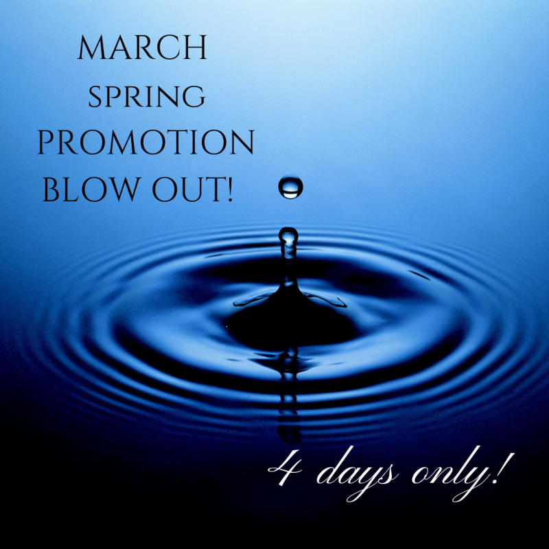 March Spring Paromotion Blow Out