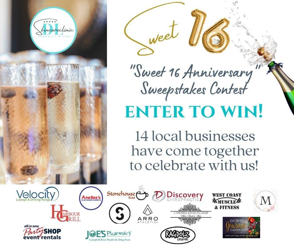 Sweet 16 Anniversary Sweepstakes Contest